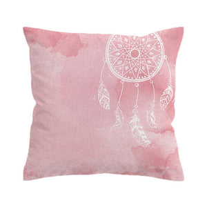 Watercolour Dream Catcher Cushion Cover - Pink