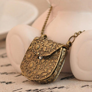 Vintage Necklace - Handbag Shape