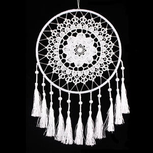 Lace Flower Dream Catcher - White