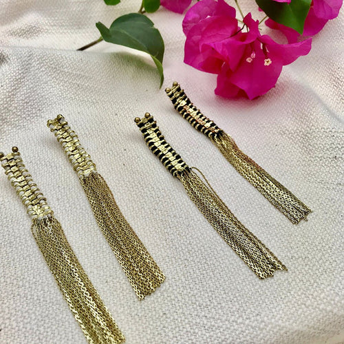 Temple Tassel Earrings - Handmade in India
