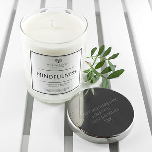 Personalised Handmade Mindfulness Candle