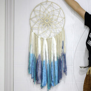 Macrame Dream Catcher - Blue and White