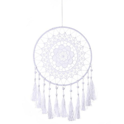 Lace Flower Dreamcatcher - White