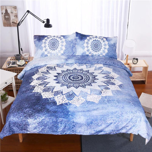Vintage Cobalt Blue Mandala Bedding Set