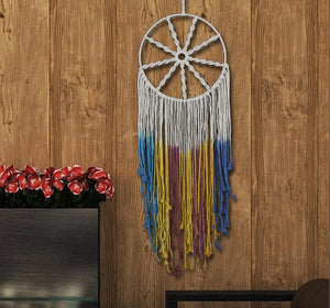 Macrame Dream Catcher With Multicoloured Dip Dye Detail