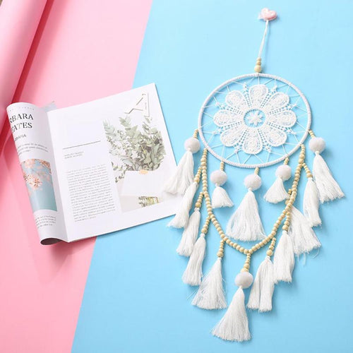 Tender Flower Dream Catcher - Beads and Tassels