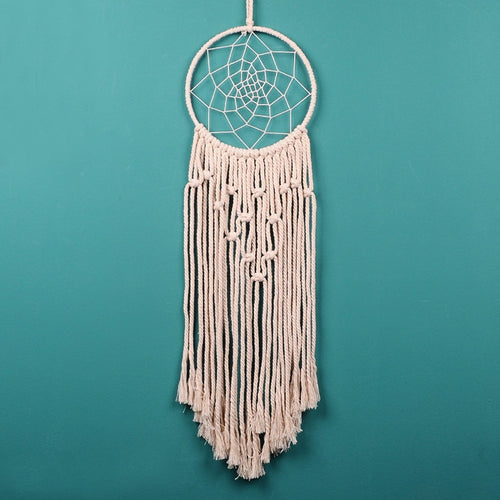 Handmade Macrame Dream Catcher - Shiny Flower