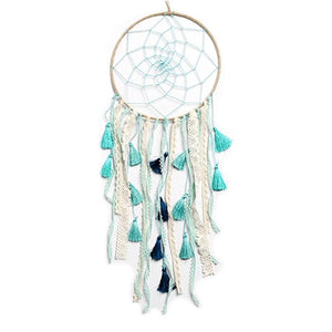 Elegant Dream Catcher - Lace and Tassels - Green