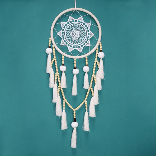Chic Handmade Dream Catcher - Beads and Tassels