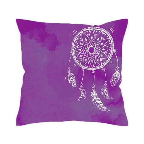 Watercolour Dream Catcher Cushion Cover - Purple