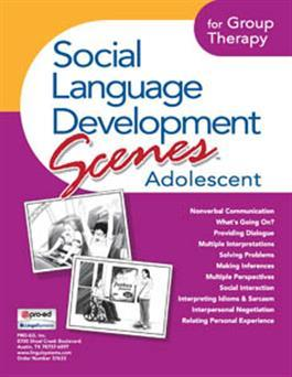 Social Language Development Scenes Adolescent for Group Therapy by LinguiSystems