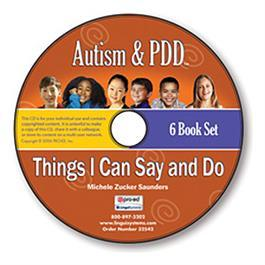 Autism & PDD Things I Can Say and Do 6-Book Set on CD by Michele Zuckers Saunders