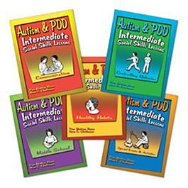 Autism & PDD Intermediate Social Skills Lessons: 5-Book Set by Pam Britton Reese & Nena C. Challenner