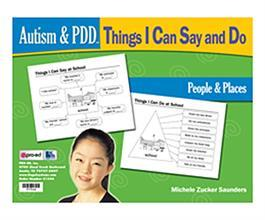 Autism & PDD Things I Can Say and Do: People & Places by Michele Zuckers Saunders