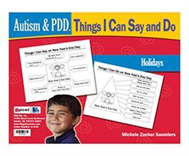 Autism & PDD Things I Can Say and Do: Holidays by Michele Zuckers Saunders