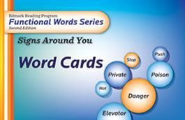 Edmark Reading Program Functional Words Series – Second Edition: Signs Around You, Word Cards.