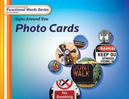 Edmark Reading Program Functional Words Series – Second Edition: Signs Around You, Photo Cards