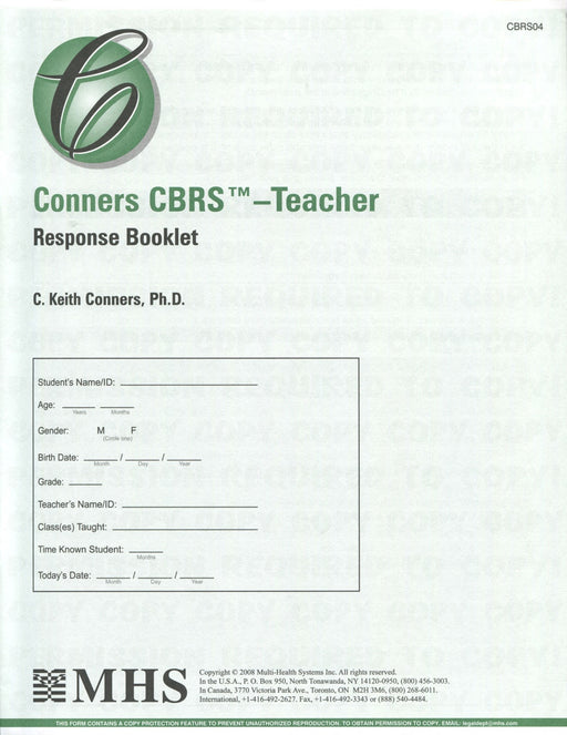 Response Booklet