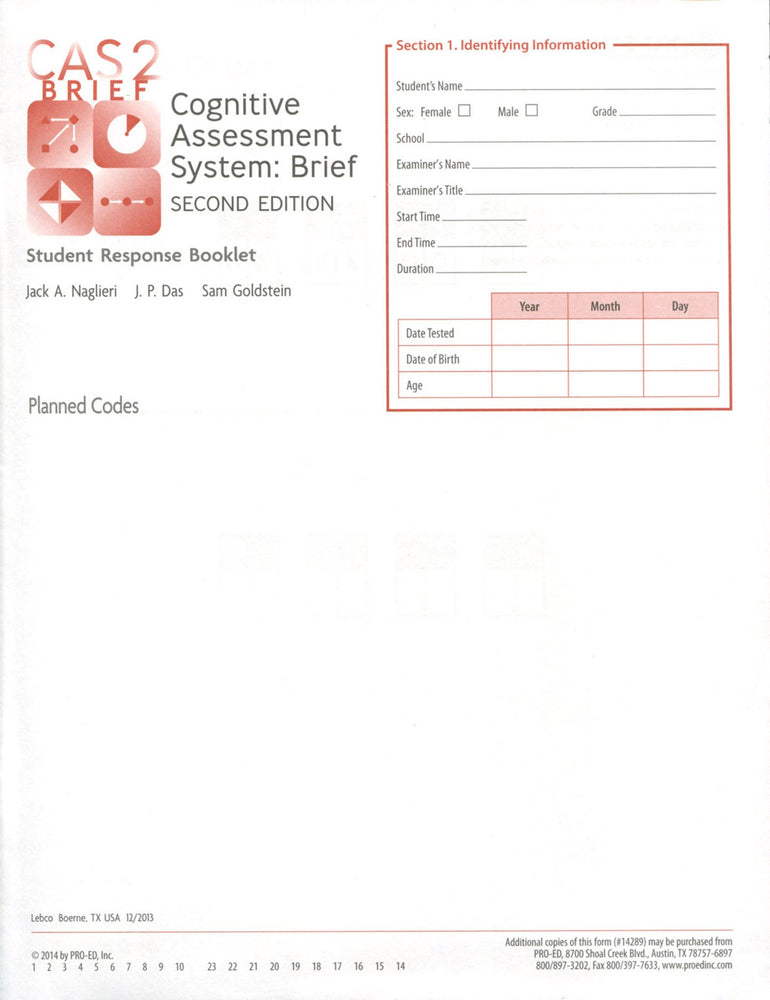 Student Response Booklet