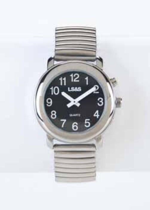 Talking Watch 1-Button Black Face