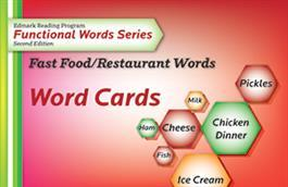 Edmark Reading Program Functional Words Series – Second Edition: Fast Food/Restaurant Words, Word Cards