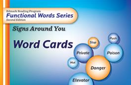 Edmark Reading Program Functional Words Series – Second Edition: Signs Around You, Word Cards Edmark