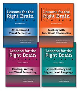 Lessons for the Right Brain–Second Edition (Set of 4) by Kathleen A. Baines+ Pamela Crowe Miller