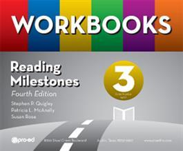 3044139e Reading Milestones–Fourth Edition, Level 3 (Yellow) Workbooks Kit by  Stephen P