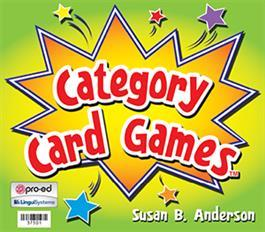 Category Card Games By Susan Anderson