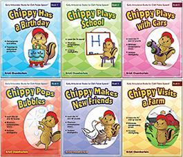 Early Articulation Books for Cleft Palate Speech: 6-Book Set by Kristi Chamberlain