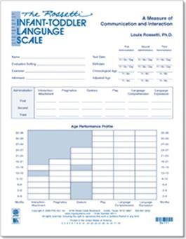 The Rossetti Infant-Toddler Language Scale Test Forms (15) By Louis Rossetti