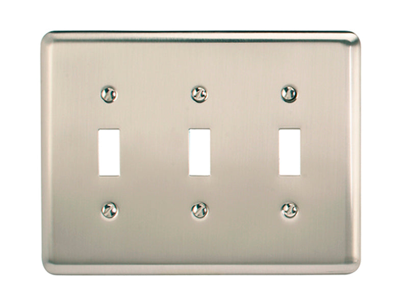 Tapa Para Interruptor Triple Pewter