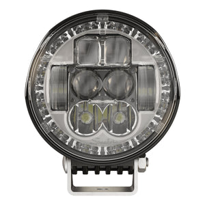 "5.75"" Round Headlights with Turn Signal & Pedestal for Applications: Construction Mining Off-Road 4x4 Power Sports Railroad Specialty Vehicles Truck & Bus"