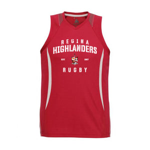 Highlanders Razor Singlet - Red/White