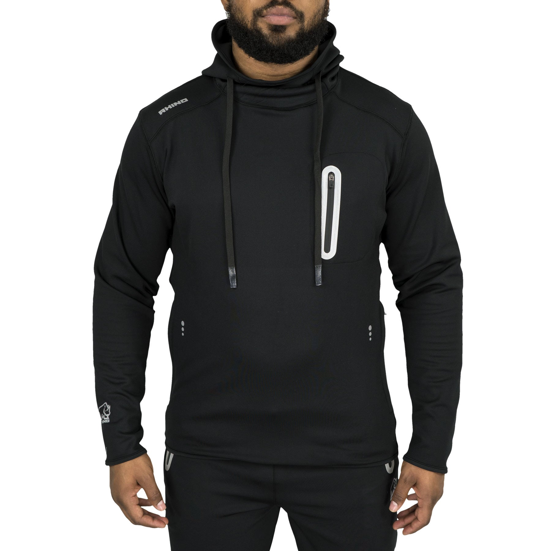 Alpha Rhino Poly Fleece Hoodie - www.therugbyshop.com