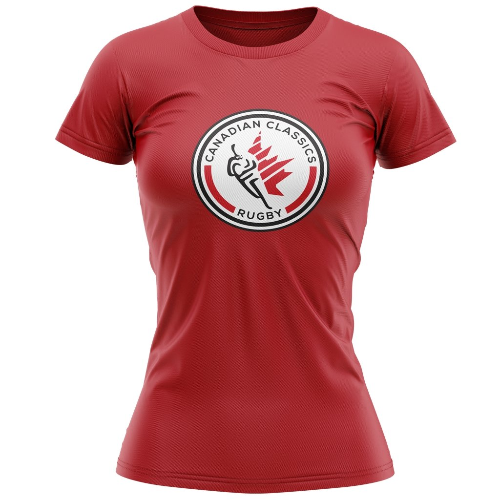 CANADIAN CLASSICS 2021 TEE - MEN'S/WOMEN'S RED - www.therugbyshop.com