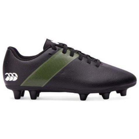 Canterbury JUNIOR Phoenix 3.0 Firm Ground Rugby Boots - Black - www.therugbyshop.com