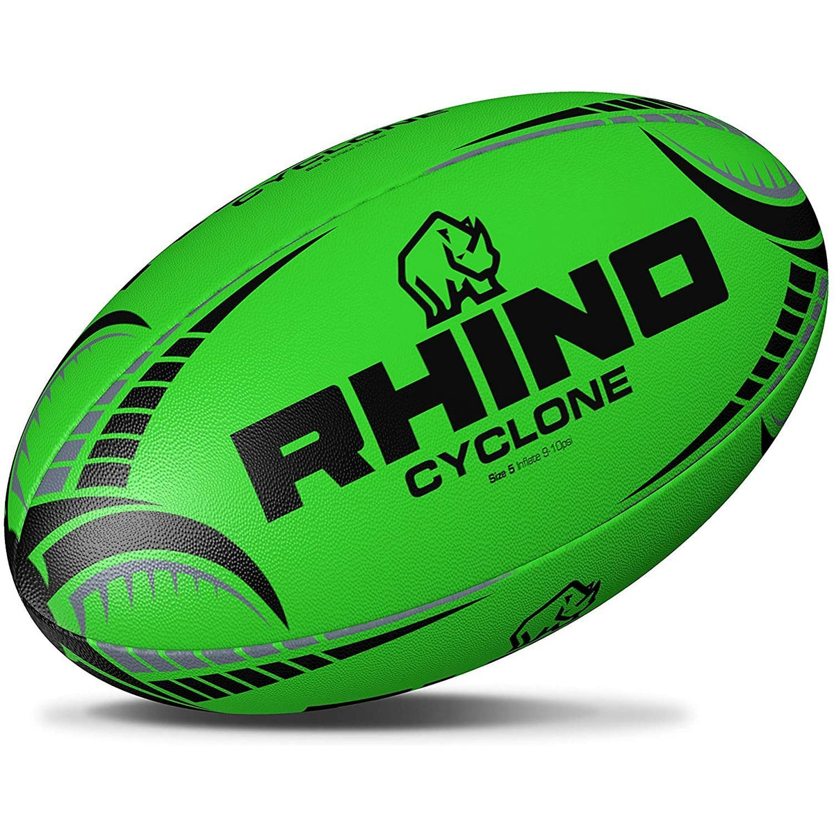 Fluorescent Cyclone Practice Rugby Ball - www.therugbyshop.com