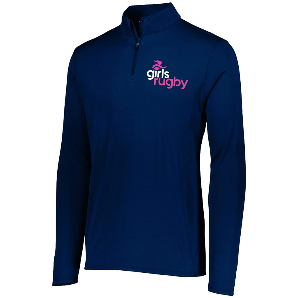 Girls Rugby 1/4 Zip Performance Pullover - Men's / Women's Navy - www.therugbyshop.com
