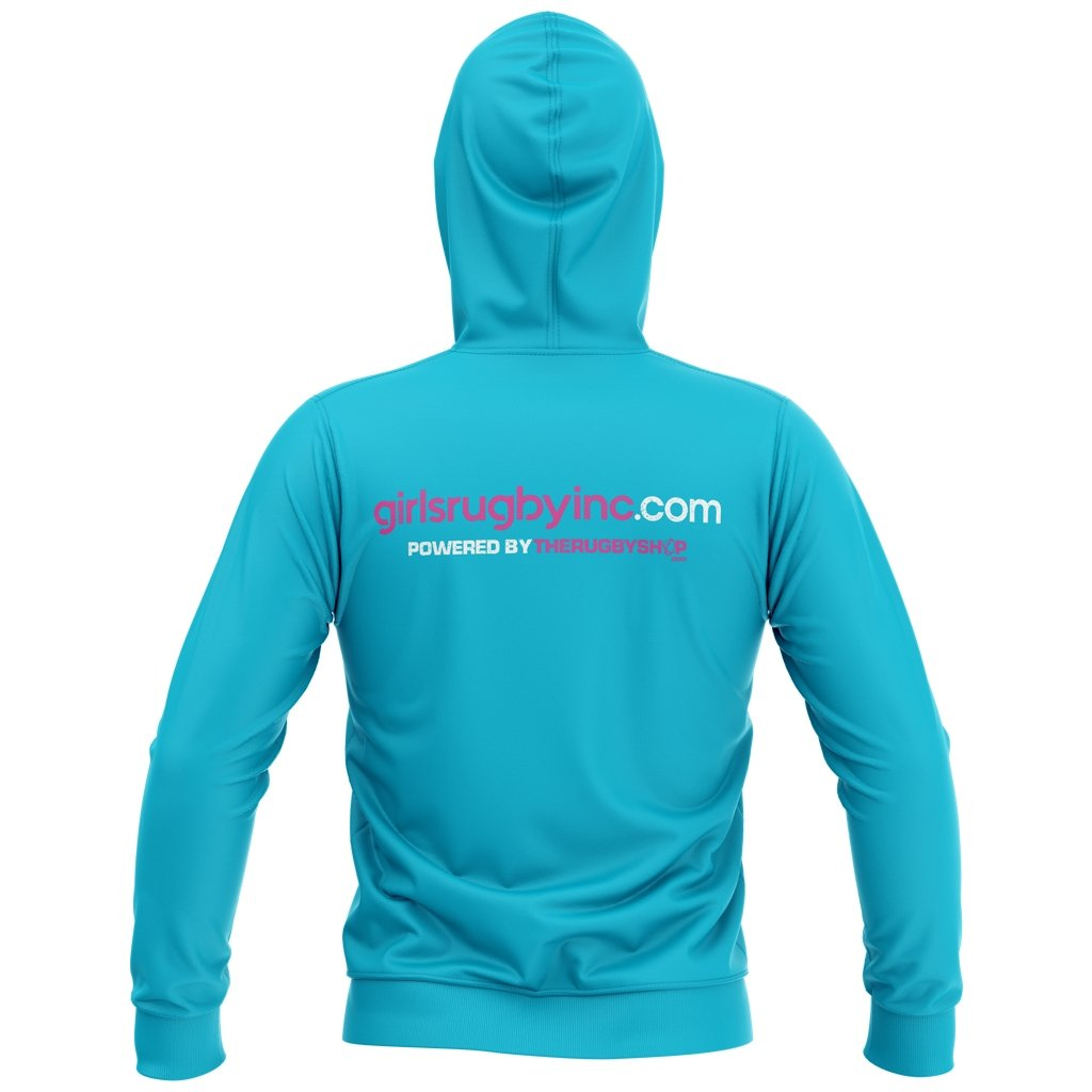 Girls Rugby 2021 Graphic Hoodie - Adult Unisex Alternative Power Blue - www.therugbyshop.com