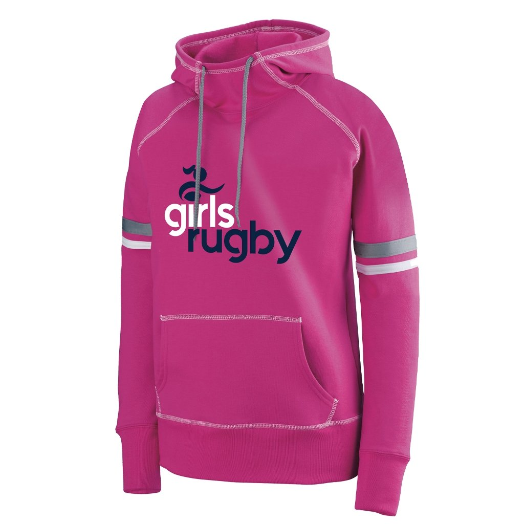 Girls Rugby 2021 Graphic Hoodie - Youth Girls Pink - www.therugbyshop.com