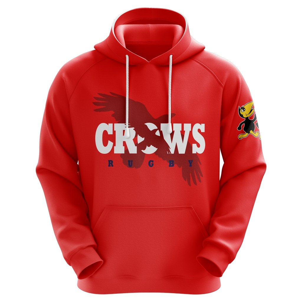 Kelowna Crows 2020 Red Logo Hoodie - Unisex / Youth - www.therugbyshop.com