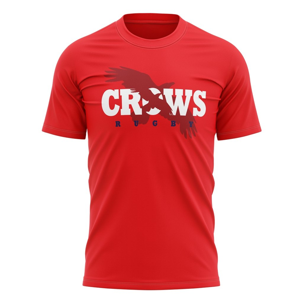 Kelowna Crows 2020 Red Logo Tee - Men's / Women's / Youth - www.therugbyshop.com