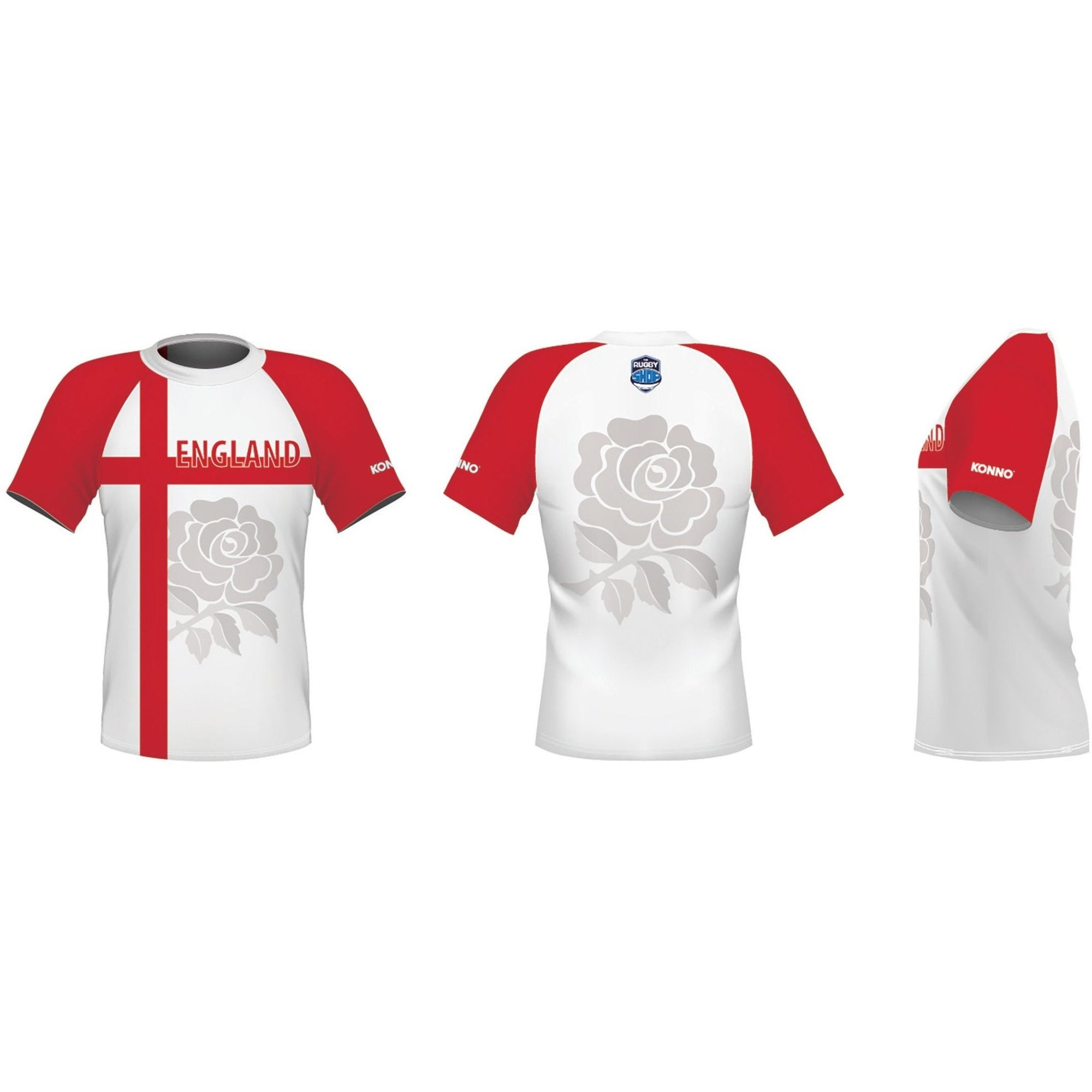 Konno International Supporter Tee - England - www.therugbyshop.com