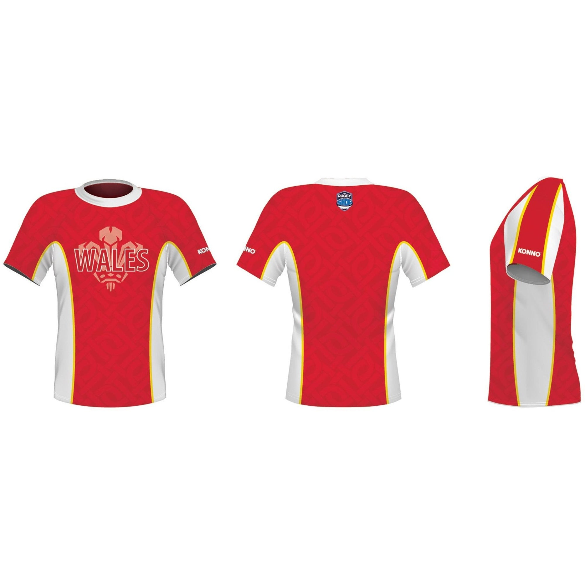 Konno International Supporter Tee - Wales - www.therugbyshop.com
