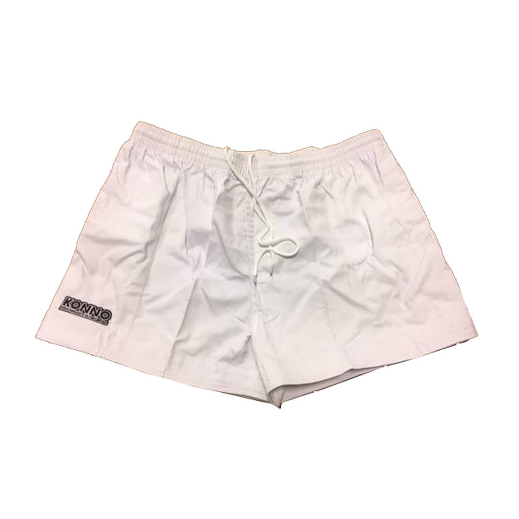 Konno White Cotton Rugby Shorts - www.therugbyshop.com