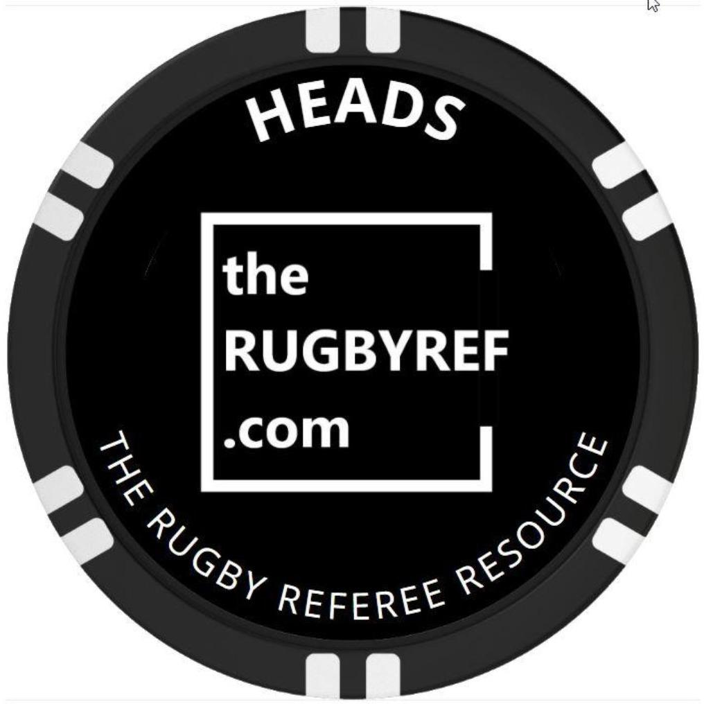 Referee Flip Coin - www.therugbyshop.com