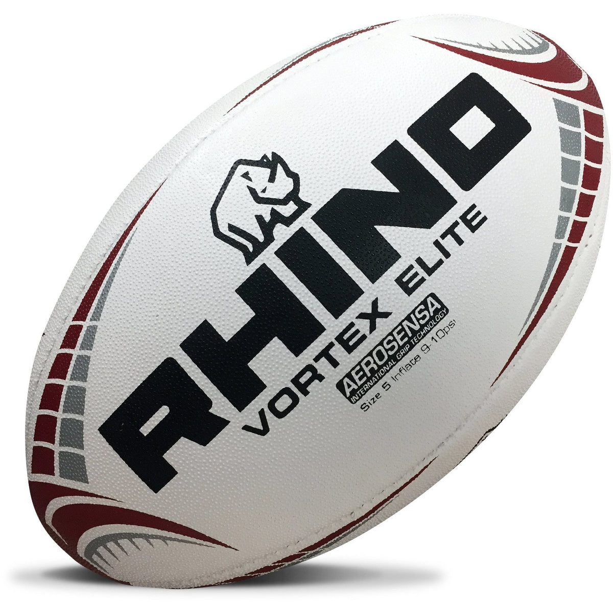 Rhino Vortex Elite Match Rugby Ball - Size 5 - www.therugbyshop.com