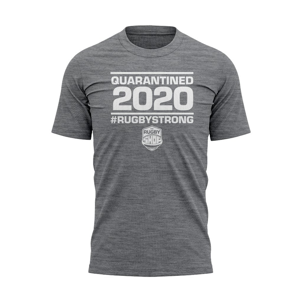 #Rugbystrong Quarantined 2020 Tee - Mens/Womens/Youth - www.therugbyshop.com
