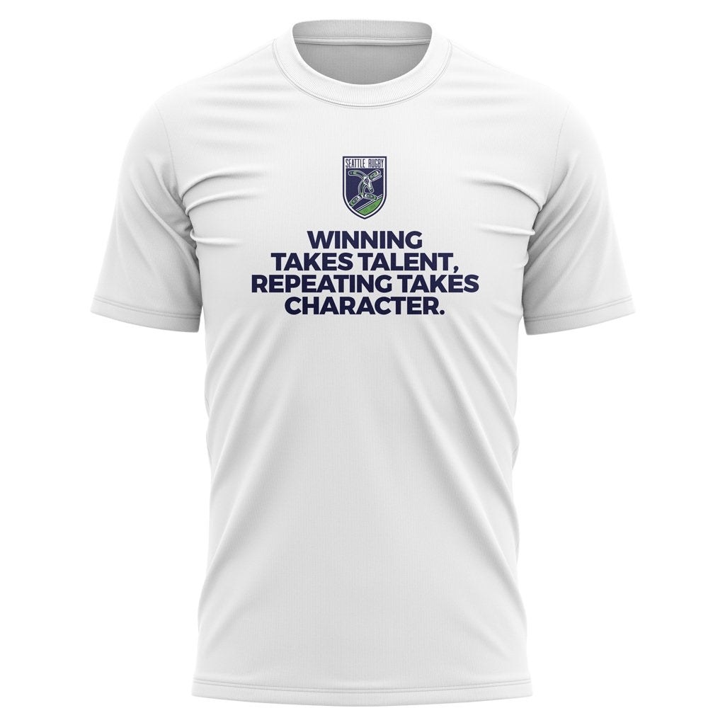 "SEATTLE RUGBY CLUB 2021 ""WINNING"" TEE - MEN'S/WOMEN'S WHITE - www.therugbyshop.com"